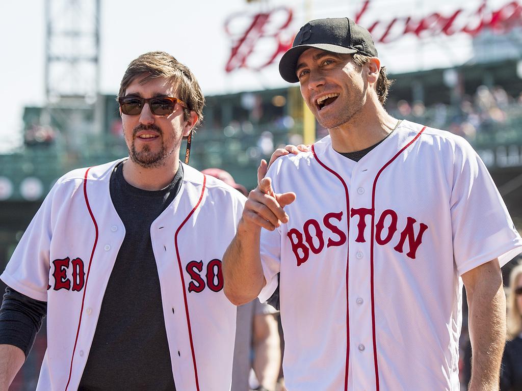 Jake Gyllenhaal, Boston Bombing Survivor Jeff Bauman Throw Out First Pitch