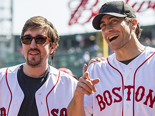 Jake Gyllenhaal and Boston Bombing Survivor Jeff Bauman Throw Out First Pitch at Fenway Park