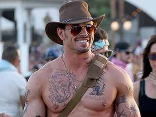 New Look? Kellan Lutz Goes Shirtless and Sports (Fake) Tattoos While Strutting Around Coachella