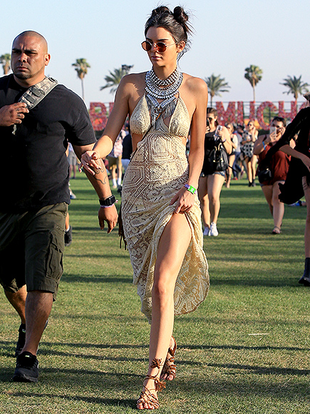 Kendall Jenner Has Friendly Run-In with Scott Disick and Takes Over the DJ Booth at Coachella Party  The Coachella Music and Arts Festival, Keeping Up with the Kardashians, Kendall Jenner, Kylie Jenner, Scott Disick
