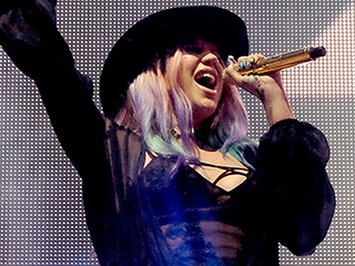 Kesha Parties at Neon Carnival After Performing with Zedd at Coachella