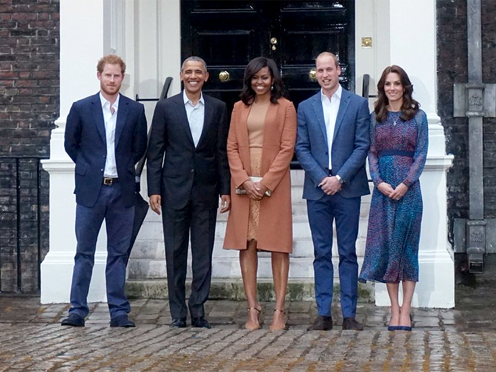 Kate, William, Harry Host President Obama and First Lady ... K Michelle Before And After