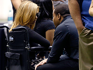 Wife of Slain Ex-Saints Star Will Smith Appears in Public for the First Time After Fatal Shooting to Attend Husband's Viewing