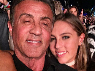 Sylvester Stallone Cracks About 'Nice, Peaceful, Quiet Family Outing' with Daughter at Coachella