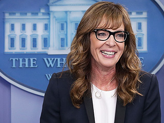 WATCH: Allison Janney Bring C.J. Cregg Back to the West Wing Podium, Wins #FlashbackFriday