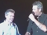 Blake Shelton Takes the Stage Hand-in-Hand with Randy Travis: 'This Is One of My Heroes,' He Tells the Crowd