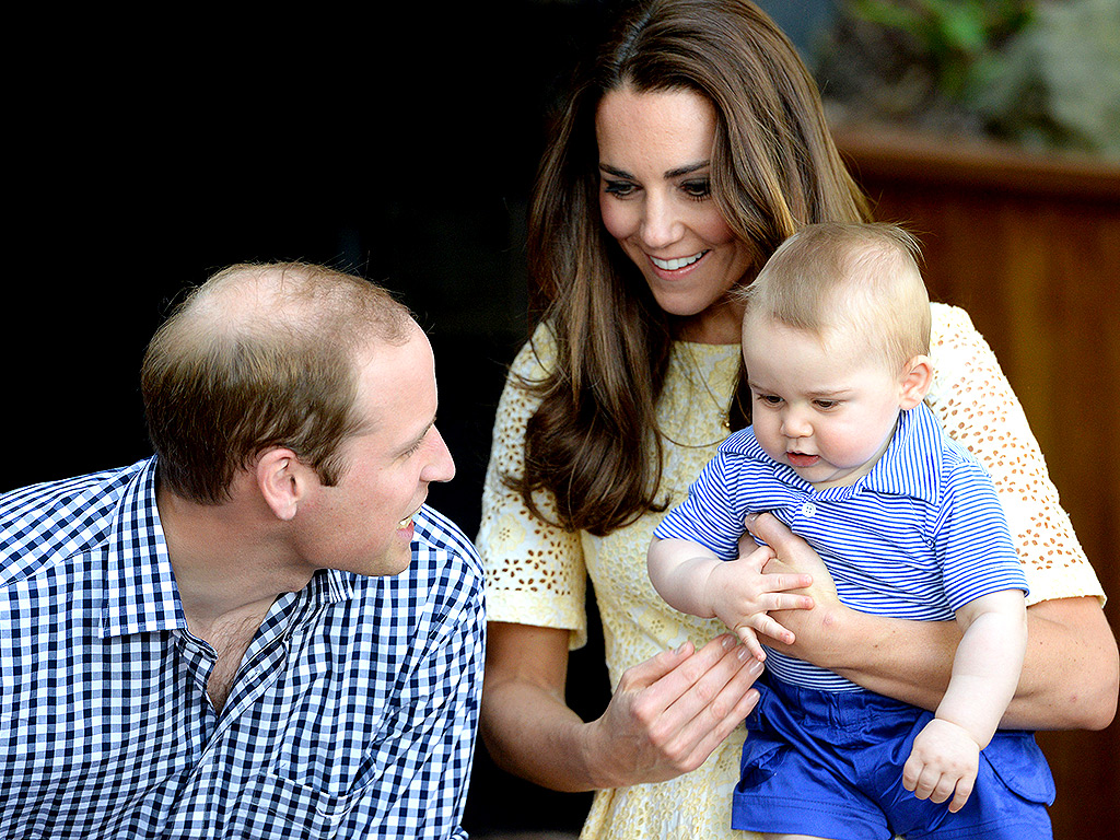 Prince William, Princess Kate and Prince George in Australia