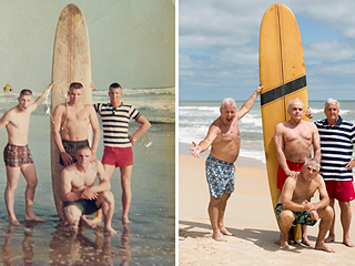 Surf's Up! U.S. Marines Reunite to Recreate Iconic Beach Photo 50 Years Later