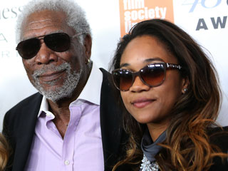Morgan Freeman Brings His Granddaughter to Chaplin Awards Gala for Glam Family Night