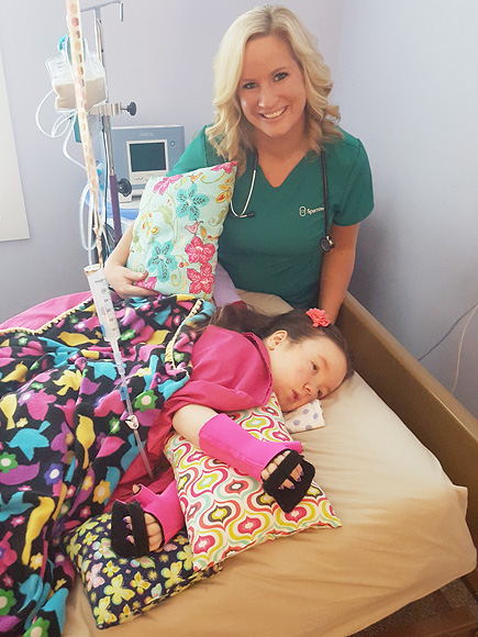 Michigan Couple Inspired by Daughter to Craft Colorful Pillows for Pediatric Hospital Patients: 'We Hope They Can Ease Children's Pain'| Heroes Among Us, Medical Conditions