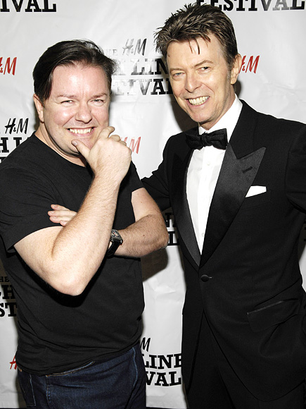 Ricky Gervais Recalls Email Chats with David Bowie Shortly Before Singer's Death: 'Dignity to the End'| David Bowie, Ricky Gervais