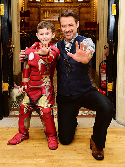 Robert Downey Jr. Poses with Sick Fan Ahead of Captain America
