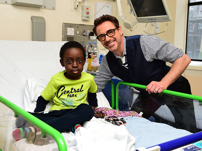 Robert Downey Jr. Poses With Young Iron Man Fan at Children's Hospital Ahead of Captain America Premiere| Movie News, Robert Downey Jr.