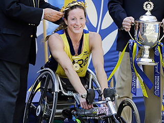 Wheelchair Racing Sensation Tatyana McFadden Muscles Her Way To A Fourth Boston Marathon Victory