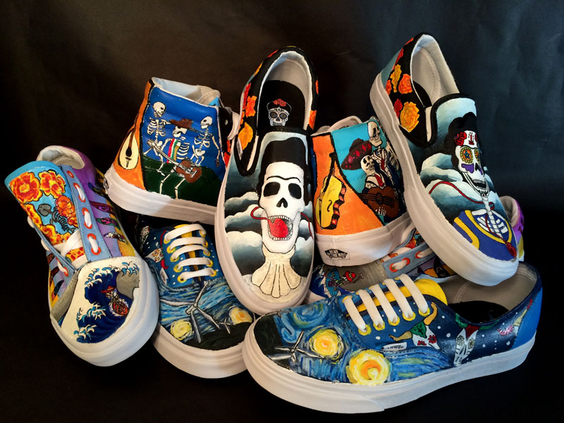 High Schoolers Customize Vans Sneakers to Win Money for Their School's Arts Program| Good Deeds, Around the Web, Real People Stories