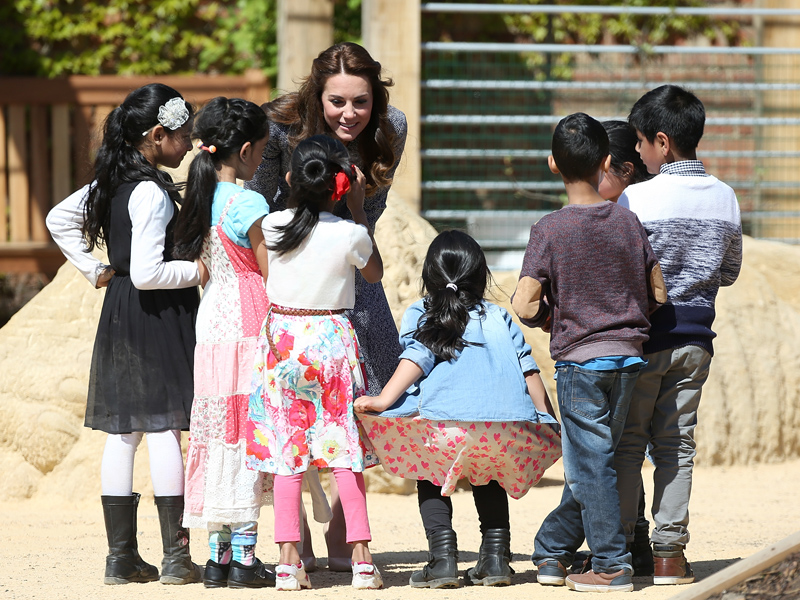 Princess Kate Tours Medieval-Themed Playground, Says Prince George 'Would Be a Bit Scared' of 25-Foot Dragon  The British Royals, The Royals, Kate Middleton, Prince George