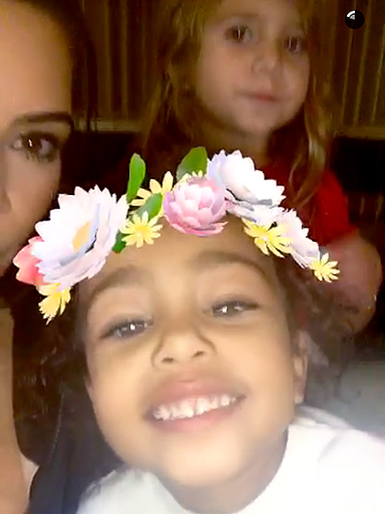Kim, Khloé and Kourtney Have a Girls' Night in with Penelope and North  North West, Khloe Kardashian, Kim Kardashian, Kourtney Kardashian