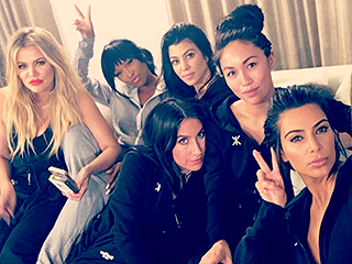 Kim, Khloé and Kourtney Have a Girls' Night in with Penelope and North