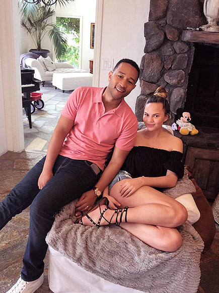 Chrissy Teigen Shows off Her Envy-Inducing Three-Week Post-Baby Body
