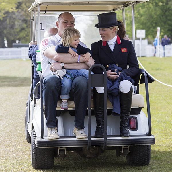 Zara Tindall's Husband Mike and Daughter Mia Show Their Support as She Competes in Horse Trials in Gloucestershire| Summer Olympics 2016, The Royals, Mike Tindall, Zara Phillips