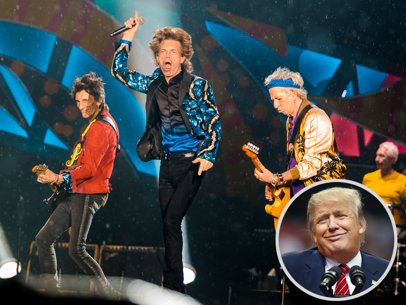 The Rolling Stones Ask Trump to Stop Using Their Music