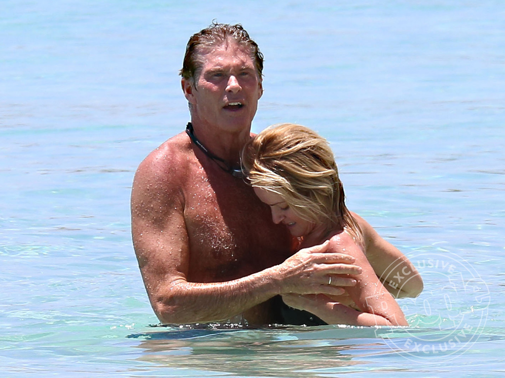 David Hasselhoff and Hayley Roberts Spotted on Romantic Caribbean ...