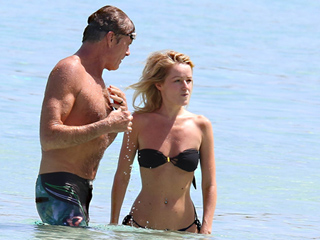 David Hasselhoff and Fiancée Hayley Roberts Spotted on Romantic Vacation Just Days After Announcing Engagement