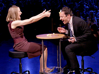 FROM EW: Jodie Foster Braves Egg Russian Roulette with Jimmy Fallon