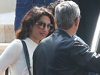 Amal Clooney Makes a Stylish Arrival with Husband George in France Ahead of Cannes Film Festival