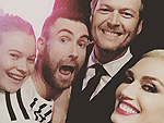 #RelationshipGoals! Gwen Stefani Posts Group Shot with Blake, Adam and Behati After Moving Performance on The Voice
