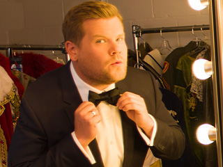 First Look! See James Corden Backstage as He Preps to Host the Tony Awards (with Some Hamilton Hints?)