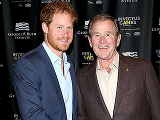 Passionate Prince Harry Speaks Out on the Invisible Wounds of Warfare While Meeting with President Bush in Orlando