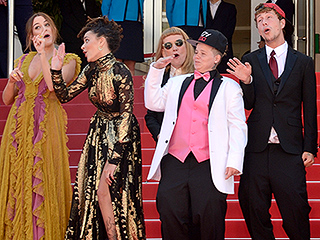 American Honey Cast Starts a Dance Party on the Cannes Red Carpet – and Kristen Stewart Joins In!
