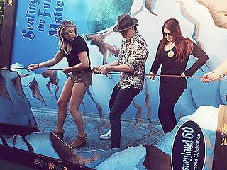 Three's Company! Chloë Grace Moretz & Boyfriend Brooklyn Beckham Party with Pal Meghan Trainor in Disneyland