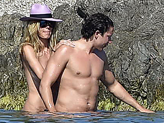 Making Waves! Heidi Klum Enjoys a Topless Swim with Boyfriend Vito Schnabel in the French Riviera