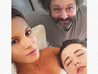 Kate Beckinsale Recreates Adorable Throwback Photo of Herself with Ex Michael Sheen at Daughter Lily's Birth