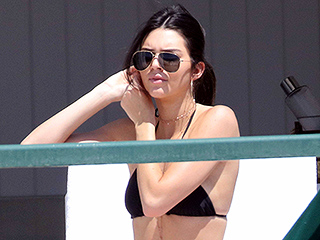 Kendall Jenner Takes a Break from the Cannes Film Festival in a Tiny Black Bikini