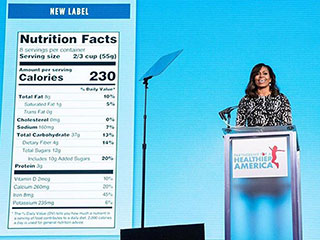 Michelle Obama Reveals Nutrition Facts Label Has Had First Update in 20 Years – See What's Changed
