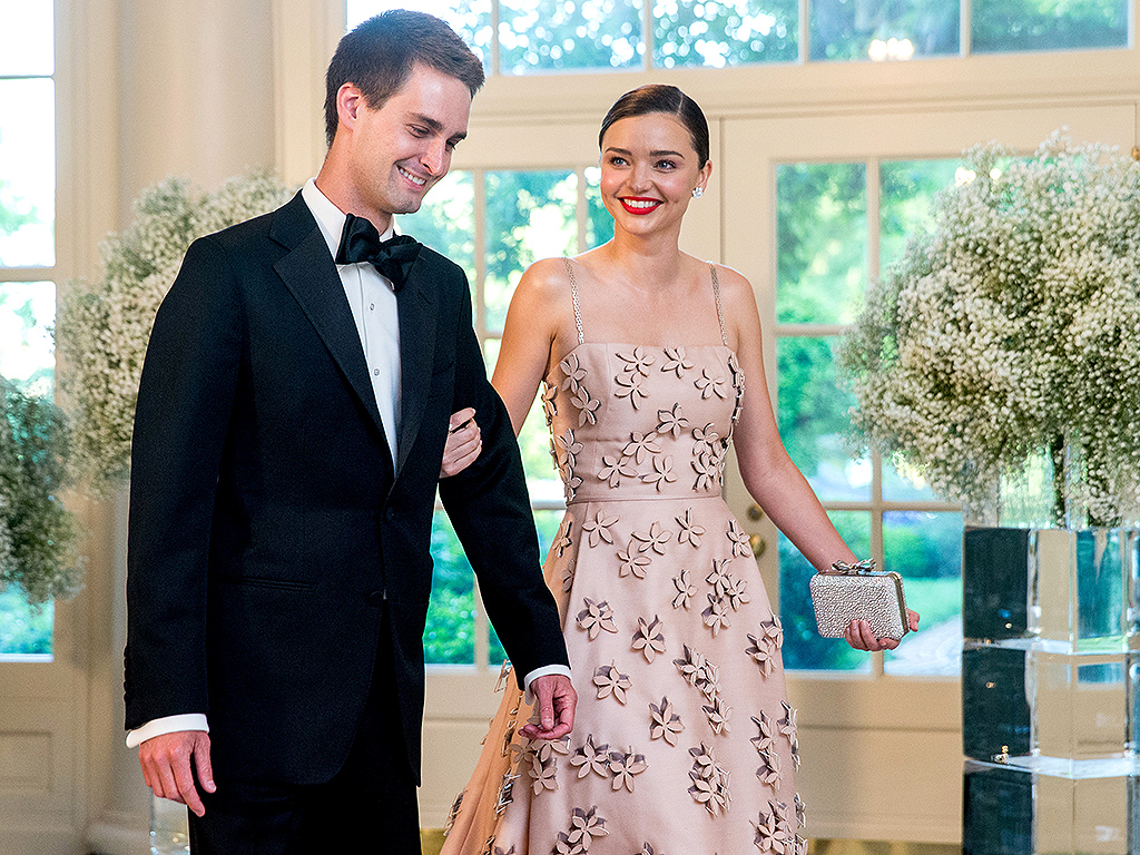 Miranda Kerr and Evan Spiegal at State Dinner at White ...