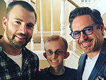 Gwyneth Paltrow, Robert Downey Jr. and Chris Evans Pay a Special Visit to Avengers Fan Battling Cancer