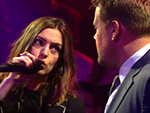 WATCH: Anne Hathaway and James Corden Show No Mercy Facing Off During an Epic Rap Battle