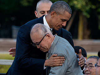 President Obama Meets with Scarred Survivor of Atomic Bombing During Historic Visit to Hiroshima