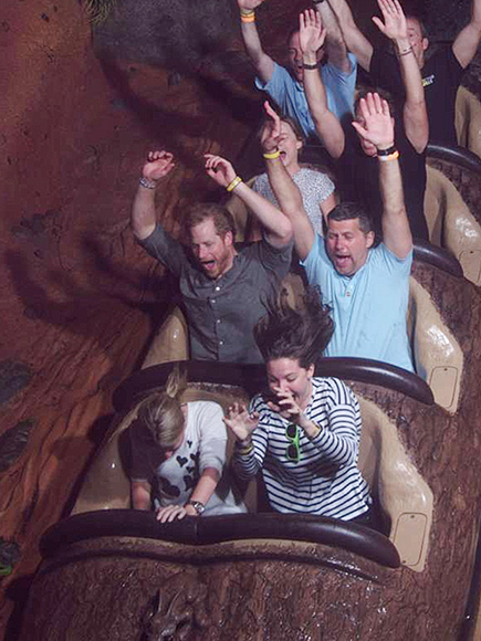 See Prince Harry Scream His Way Down Splash Mountain – 23 Years After His First Ride!