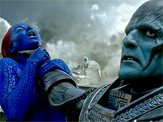 FROM EW: Rose McGowan Slams X-Men Poster that Shows Jennifer Lawrence Being Choked