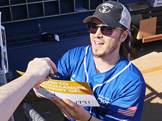 Cassadee Pope, Jonathan Jackson, Charles Esten and Scotty McCreery Play Ball for a Good Cause