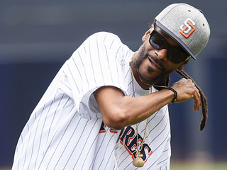 Curve Ball! Snoop Dogg Throws a Wild First Pitch at Padres Game