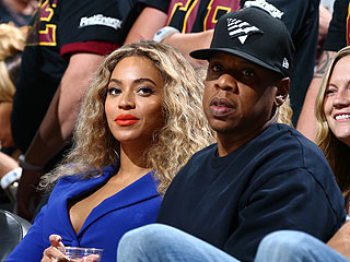 Beyoncé and Jay Z Cuddle Close During Sweet Date at NBA Finals