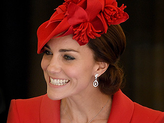 Even Rain Can't Dampen Princess Kate's Perfect Lady-in-Red Look