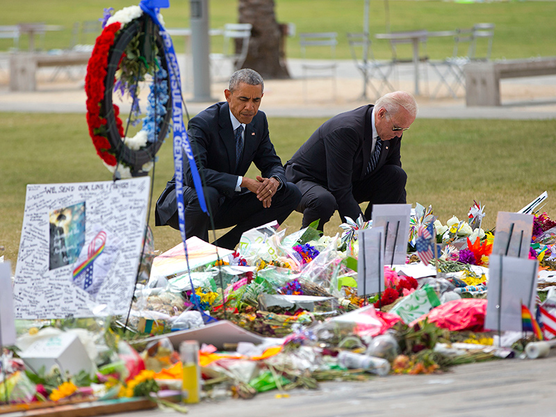 'Our Hearts Are Broken, Too': Obama and Biden Mourn with Survivors and Victims' Families in Orlando