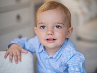'Love You to the Moon and Back': See Prince Nicolas' First Birthday Photo!
